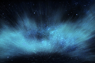 Starry explosion in a galaxy illustration picture
