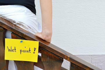 Wet paint adversity