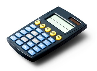 Calculator, Isolated, Single Object.