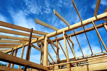 Installation of wooden beams