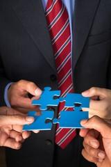 Fototapete - Business, Puzzle, Teamwork.