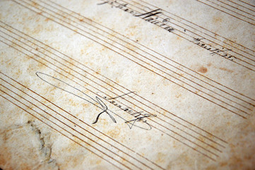 beautiful signature on vintage sheet music