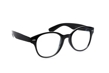 Glasses, Isolated, Black.