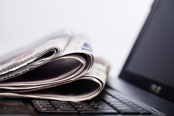 Newspaper, The Media, Historic World Event.