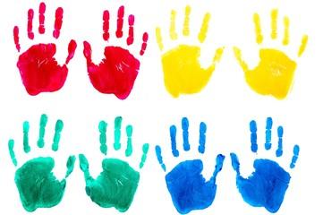 Handprint, Finger Painting, Human Hand.