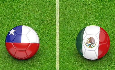 2015 Copa America football tournament, teams Chile vs Mexico