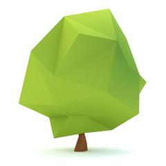 Low polygon design of tree