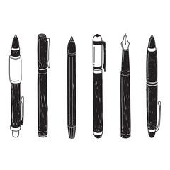 set of pen doodle