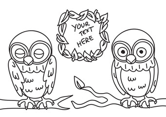 cute owl with copy space