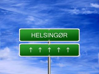 Helsingor City Denmark Sign
