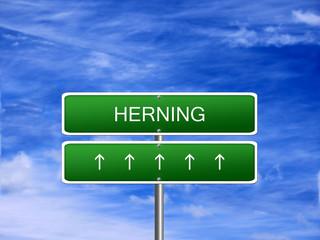 Herning City Denmark Sign