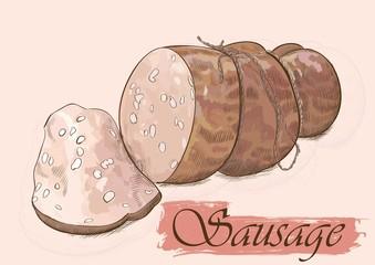 sausage with slice