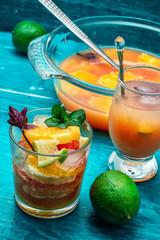fresh tropical fruit juices