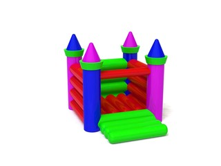 bouncy castle 3d render image