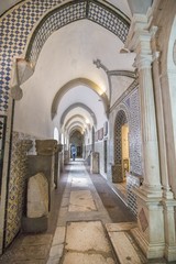 BEJA, PORTUGAL - APRIL 2015: View of the beautiful details inside the regional museum of Beja city, Portugal.