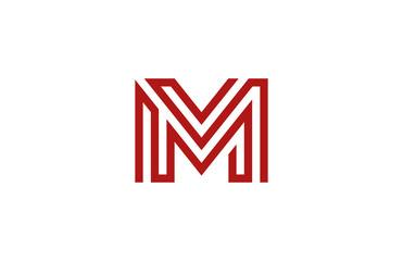 Letter M Logo vector alphabet design element template. ABC conce