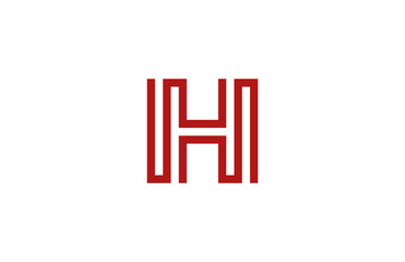 Letter H Logo vector alphabet design element template. ABC conce