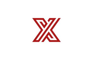 Letter X Logo vector alphabet design element template. ABC conce