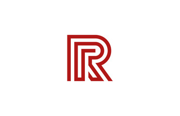 Letter R Logo vector alphabet design element template. ABC conce