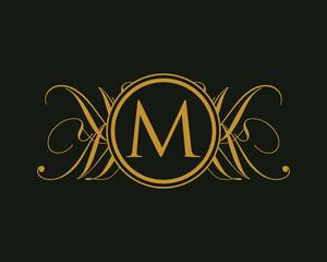 Luxurious Royal Elegant Logo M