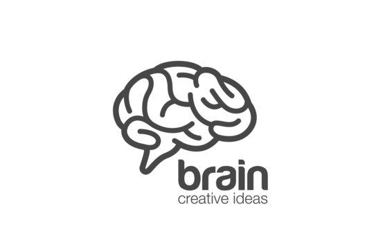 Brain Logo design vector template. Generate idea...Brainstorming