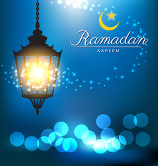 Beautiful bright lamp for ramadan festival