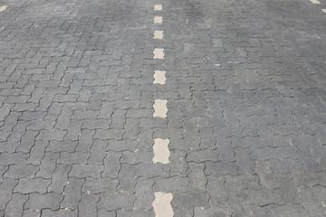 Parkplatz-Markierung (achteckig, perspektivisch)