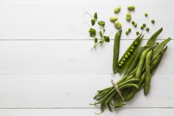 Green peas and beans
