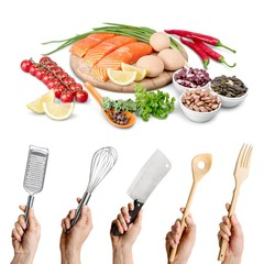 Kitchen, tool, hand.
