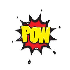 pow  icon comic