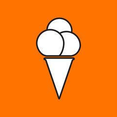Vector ice-cream icon. Eps10