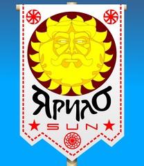 Russian standard of Yarilo pagan god