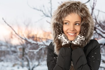 Winter, Women, Fashion.