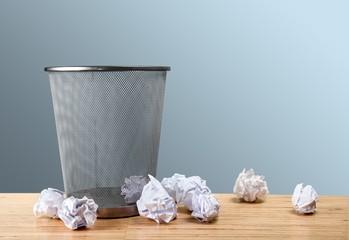 Concept, trash, paper.