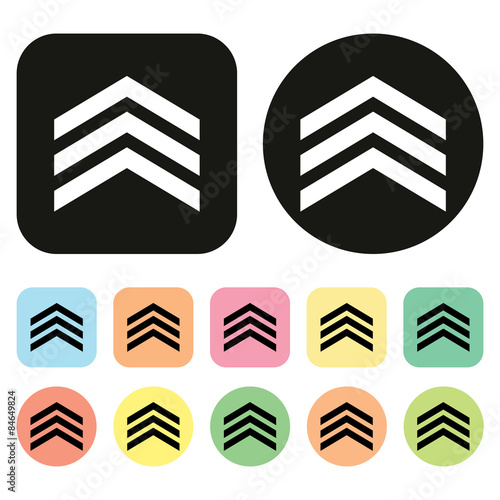 Military Ranks Icon Insignia Icon Vector Stock Photo And Royalty