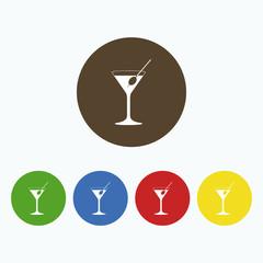 Simple icon martini glass.