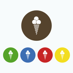 Simple ice cream icon.