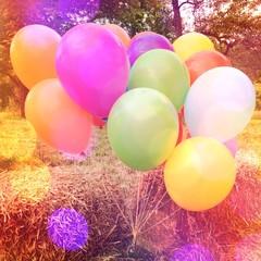 Bunte Luftballons auf der Party