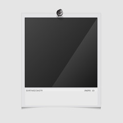 Photo frame on white background. Vector illustration.