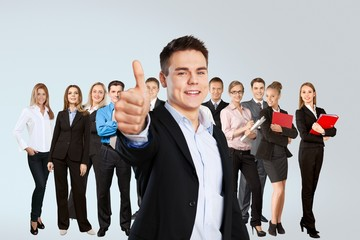 Success, business, group.