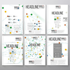 Brochure, flyer or report for business and scientific vector