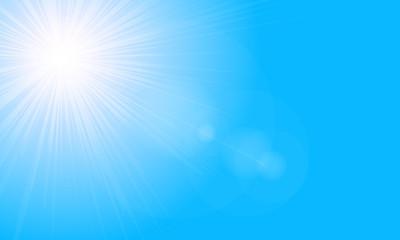Bright sun high in the sky