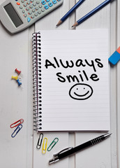 Always Smile word