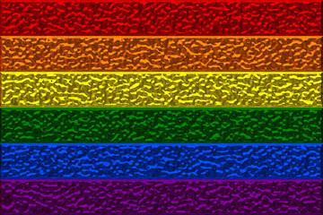Gay Pride Chrome Flag