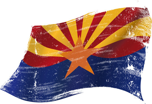 Arizona grunge flag