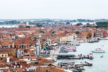 VENICE, ITALY. The top view from a kampanilla San-Marko