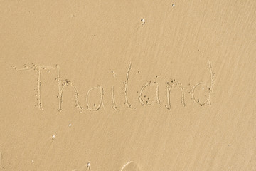 Thailand - Sandschrift