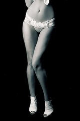 Part of sensual woman body