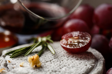French Goat cheese with grape and wine