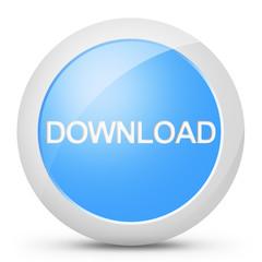 Tasto pulsante download colore blu